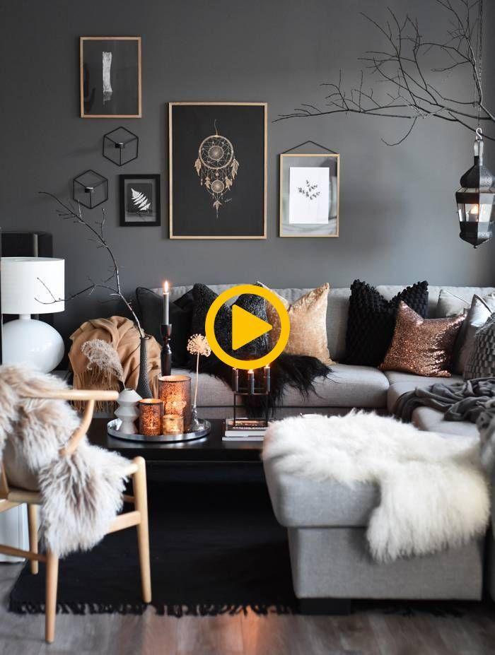 Kupferfarbene Dekoration Wohnzimmer Ideen Dekoration Wohnung