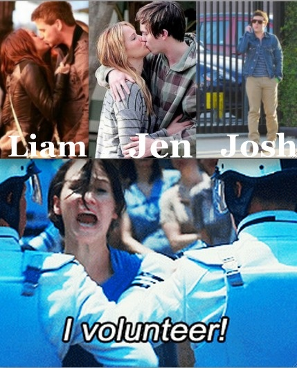 Poor Josh. At least he has the Catching Fire beach scene to look forward to.