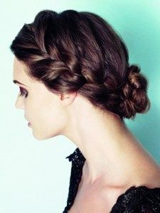 Bridesmaid hair for Nicole's wedding only have the bun more to the side.  @Nicole Novembrino Novembrino Novembrino Pickman what do you think?