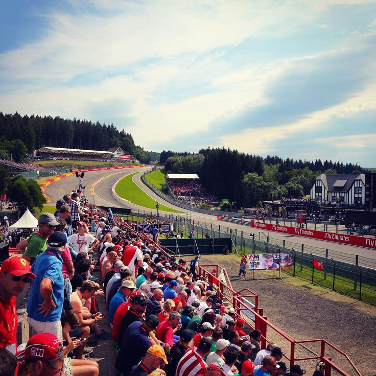 """Because you can never post too many shots of #EauRouge... #Spa #F1 #Formula1 #BelgianGP"""