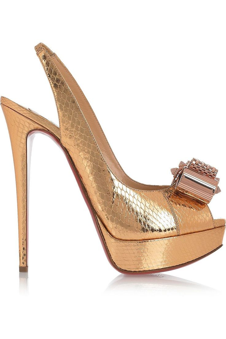 christian louboutin metallic slingback sandals | The Little Arts ...
