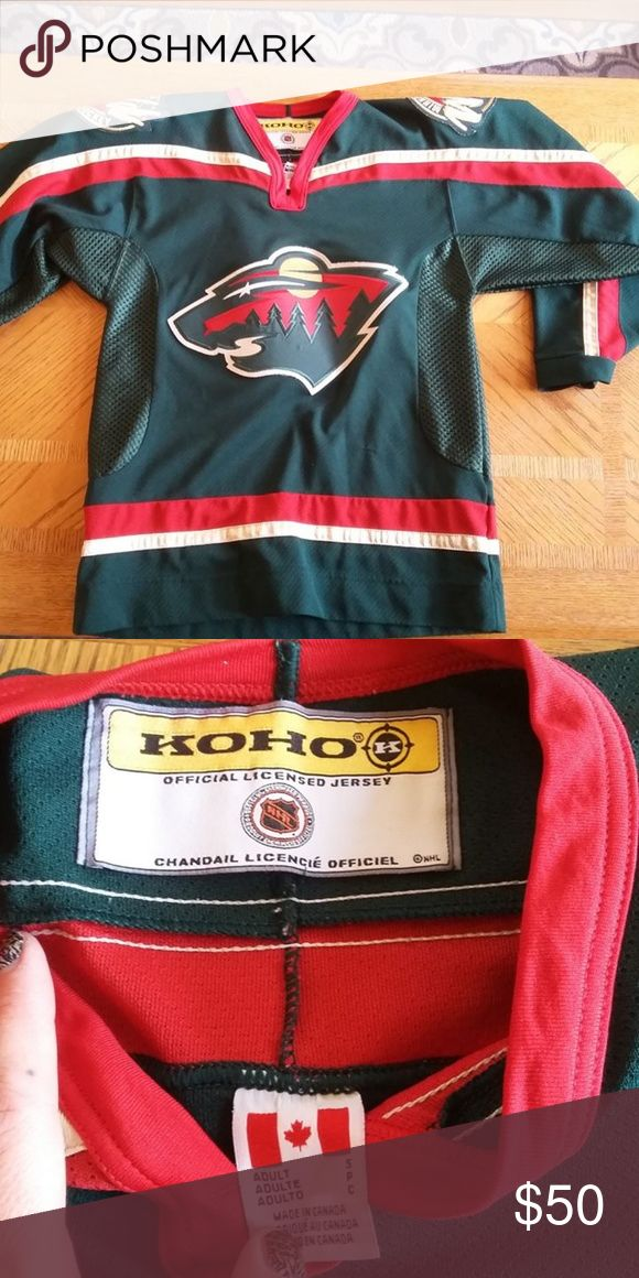 the best attitude d4b92 a99ab Authentic NHL MN Wild Jersey Adult size Small Never worn KohoNHL