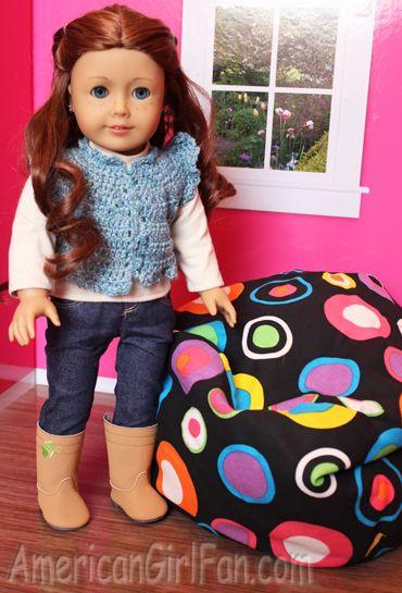 Saige Loves Ahh Product LiL Me Bean Bag Chairs Ag Agdoll American Girl