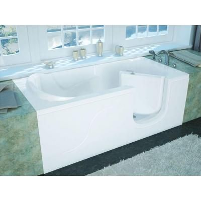 Universal Tubs 5 ft. Soaker Step In Walk-In Bathtub with Right Drain in White-HDSI3060RWS at The Home Depot (1st choice for guest bath tub)
