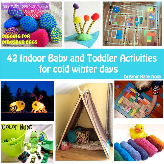 """Great ideas here, like digging for dinosaur eggs or building an indoor obstacle course. And I love the """"remember the summer"""" ideas, like making your own sunshine!"""