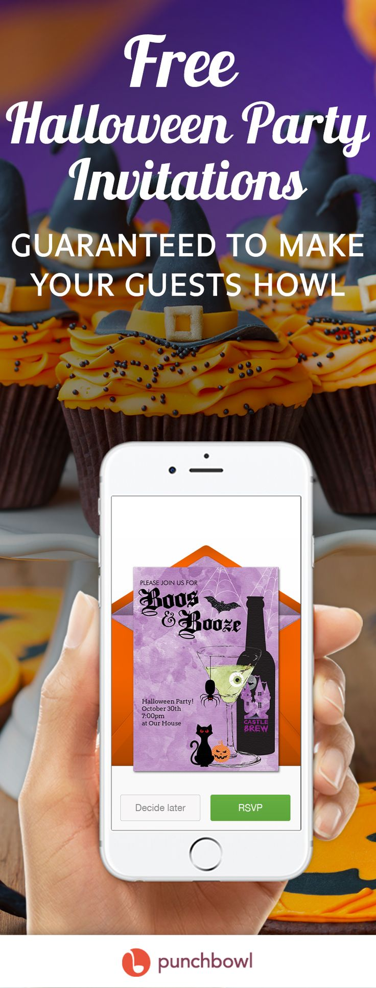 Paper invites are too formal, and emails are too casual. Get it just right with online invitations from Punchbowl. We've got everything you need for your Halloween party.        https://www.punchbowl.com/online-invitations/v/f/halloween?filters=true/?utm_source=Pinterest&utm_medium=112.7P