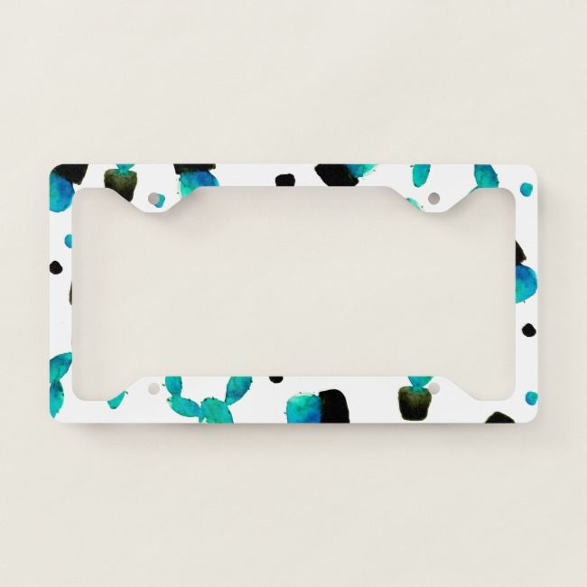 Cool Succulents and Cactus License Plate Tag Frame