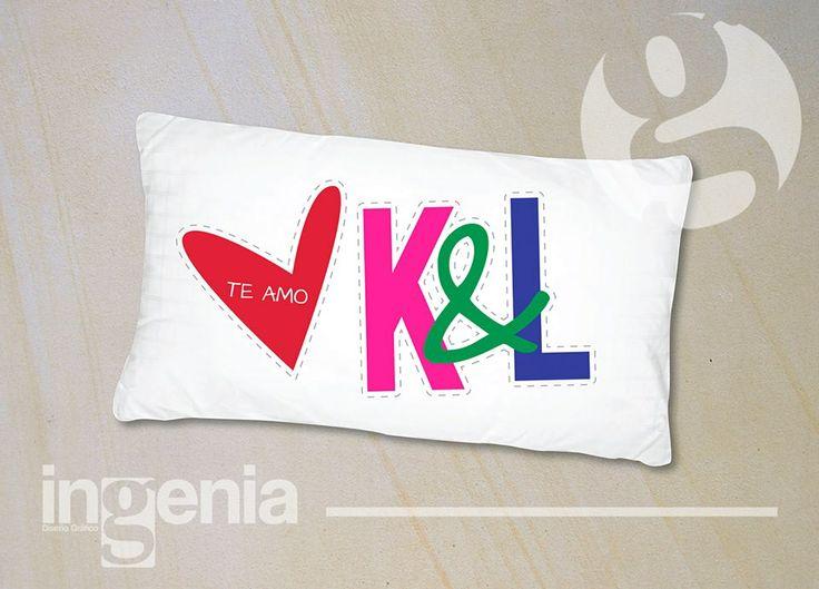 Funda para almohada 100% Personalizada Para más muestras, agréganos. www.facebook.com/ingenia.disenografico
