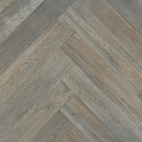 Laurentian Hardwood Herringbone White Oak Legacy Grey