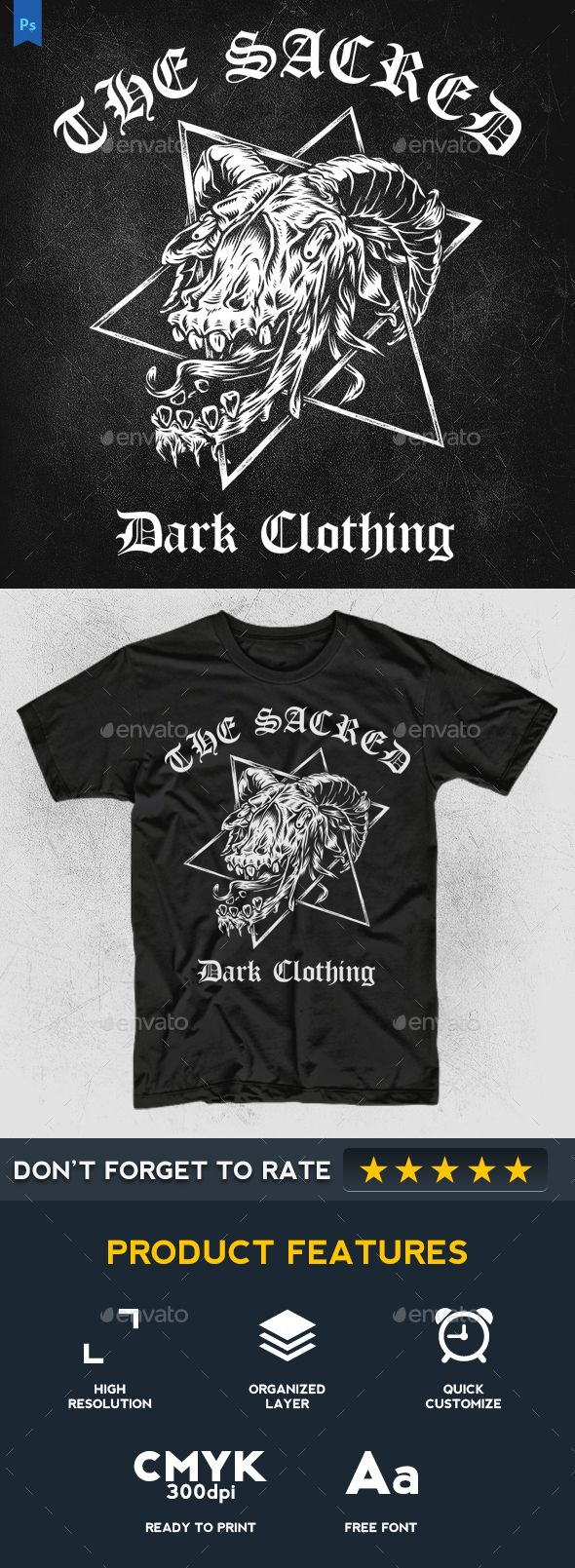The Sacred - Grunge Designs  #t-shirt #template #maze #vintage #design #clothing #apparel #ornament #tattoo #inked #mockup #goat #blackmetal #grind #metal #music #merch # death #dark #emo #halloween