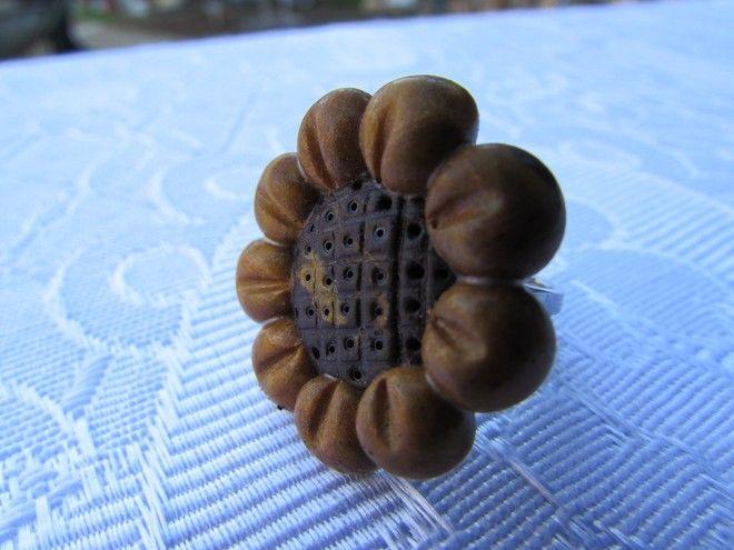 anello fimo fiore fatto a mano