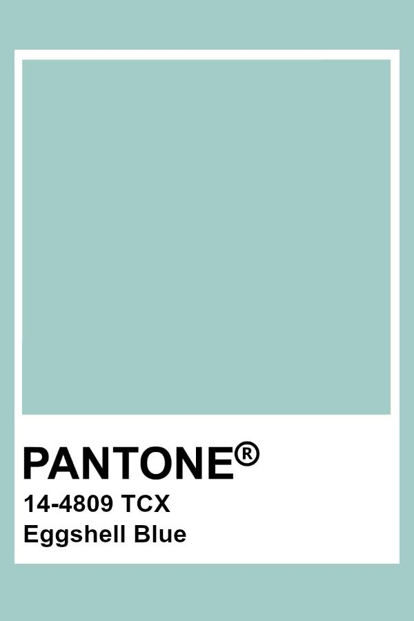 Pantone Eggshell Blue With Images