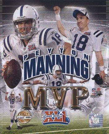 Peyton Manning Superbowl MVP | Peyton Manning Super Bowl XLI MVP Photo File Gold Composite Fine-Art ...