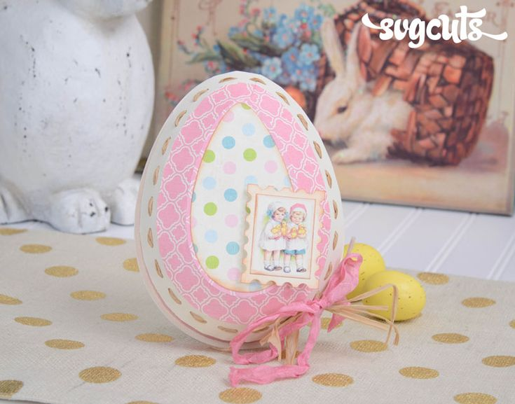254 best spring and easter images on pinterest svg cuts cutting happy easter svg kit egg shaped gift box svgfiles papercrafts easter negle Images