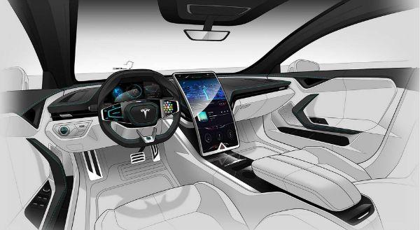 2019 Tesla Model X Inside In 2020 Tesla Model S Tesla Interior Car Interior Sketch
