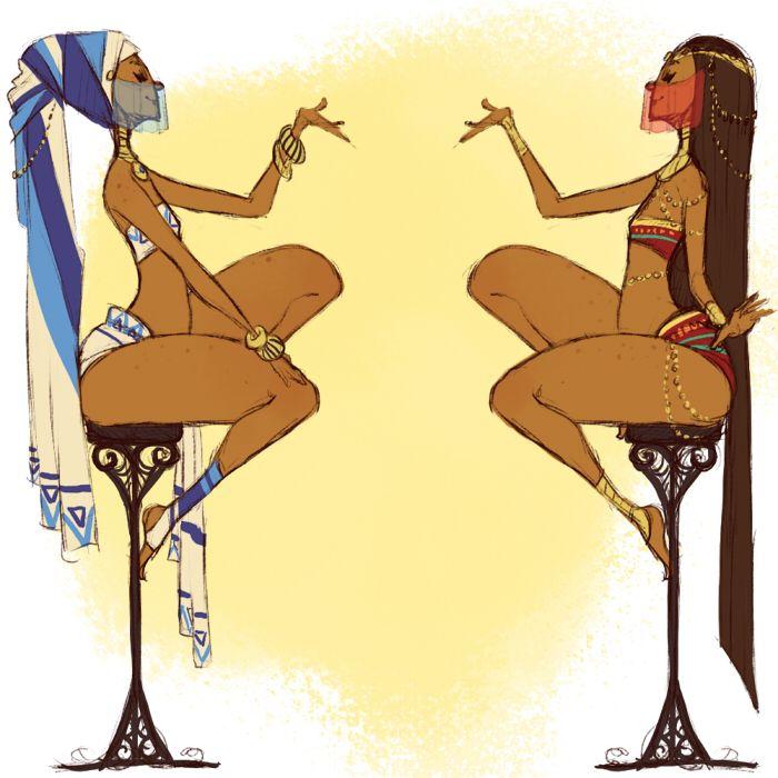 The Desert Princesses by Chopstuff on DeviantArt