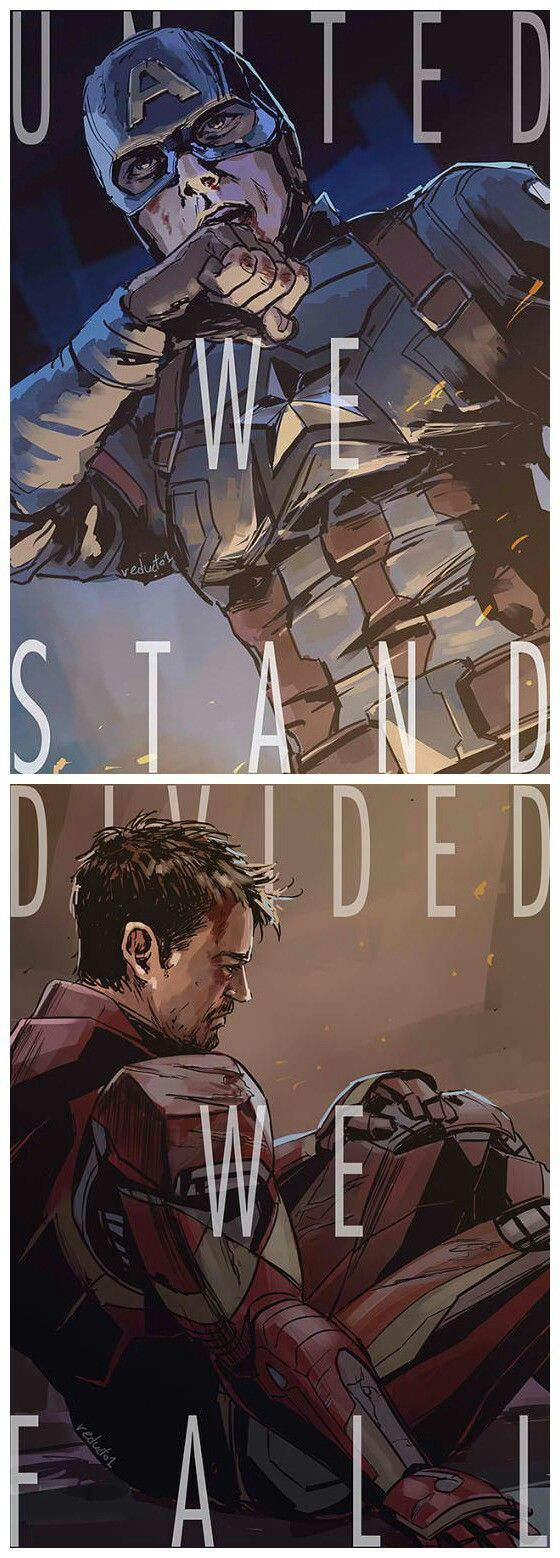 Art by reducto1 Via: reducto1art.tumblr.com/post/141097174097/its-been-a-while-since-i-drew-these-two #captainamericacivilwar #captainamerica #IronMan - Visit to grab an amazing super hero shirt now on sale!