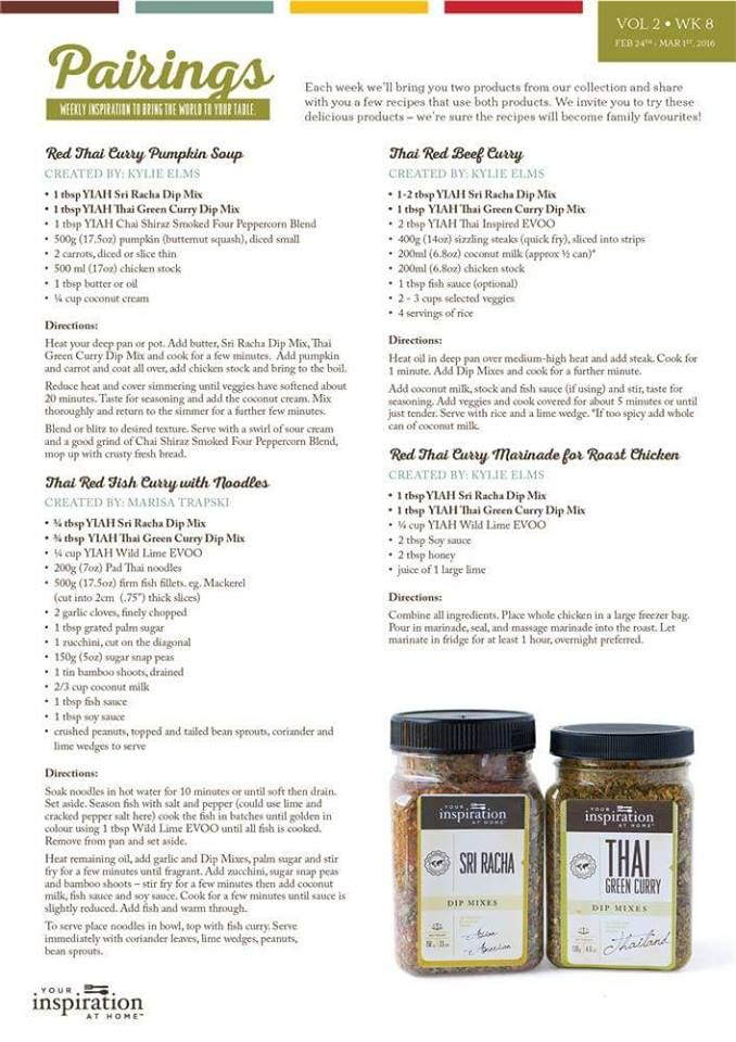 How about some recipes for that weekly pairing?