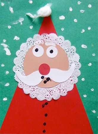 Doily Beard Santa Craft Great for shapes