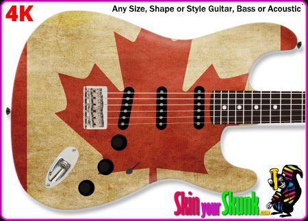 Buy Guitar Skin Flag Canada