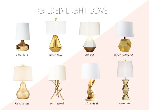 get the look: gold lamps and sources.