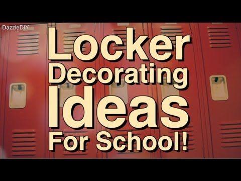 ▶ Locker Decorating Ideas! | Locker Tours - YouTube