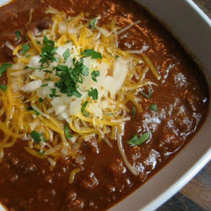 Moms Chili with Black Beans Recipe from Grandmothers Kitchen ...