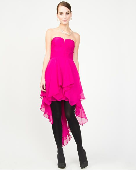 Chiffon High Low Cocktail Dress