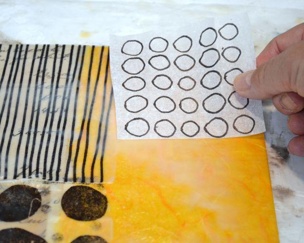 Encaustic collage tutorial by Elaine Brady Smith