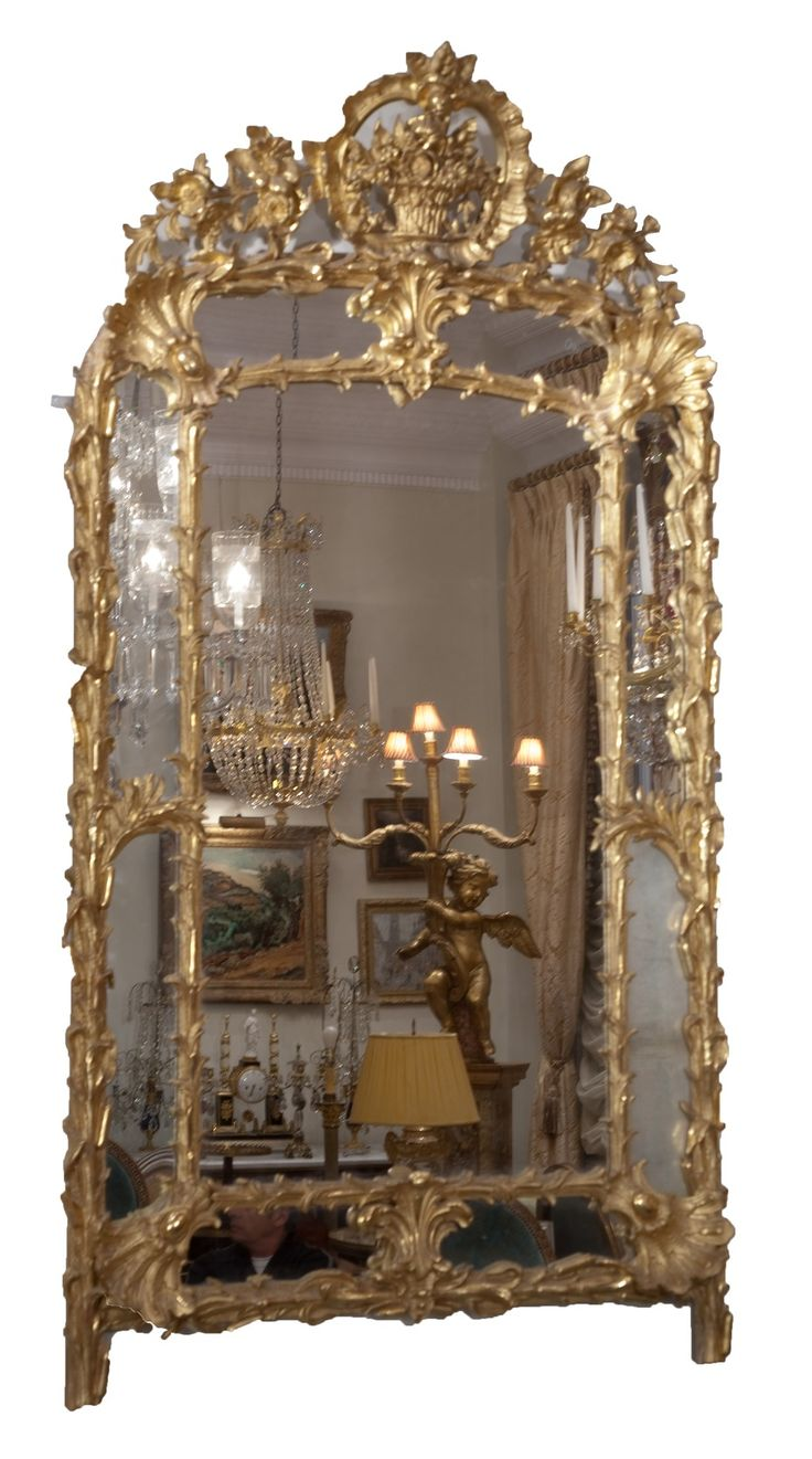 Image Detail For 18thC French Gilded Wood Over Mantle Mirror