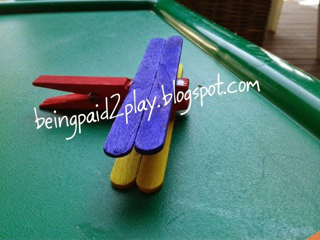 Being Paid 2 Play: Clothes Peg Aeroplane