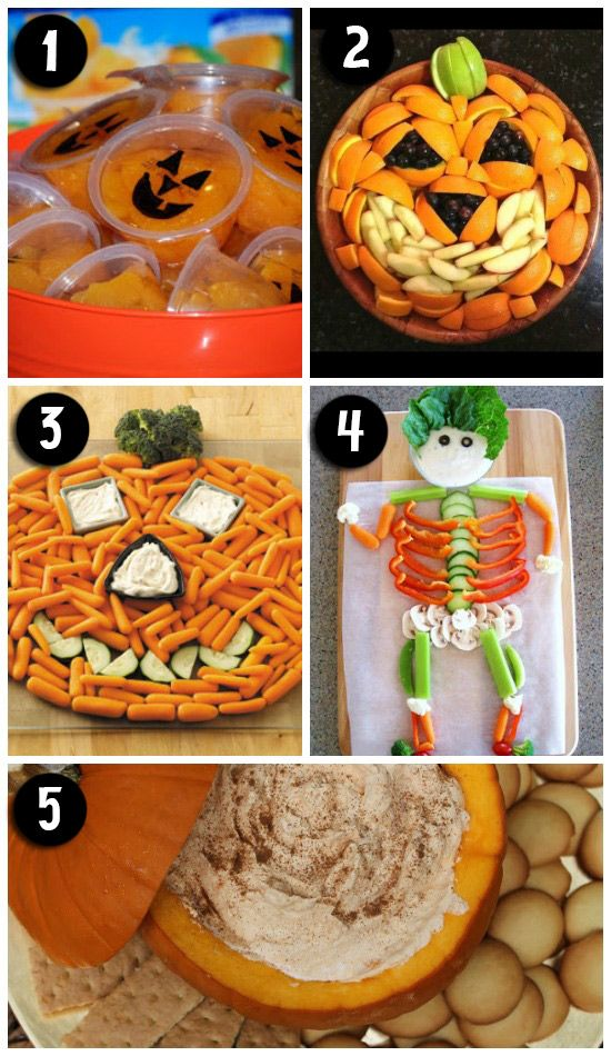 Cute trays and platters for a Halloween party or just some family fun! Love that there are so many healthy options too.