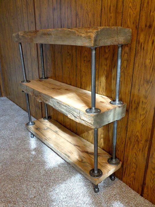 Reclaim Barn Beam Industrial Shelves Book By
