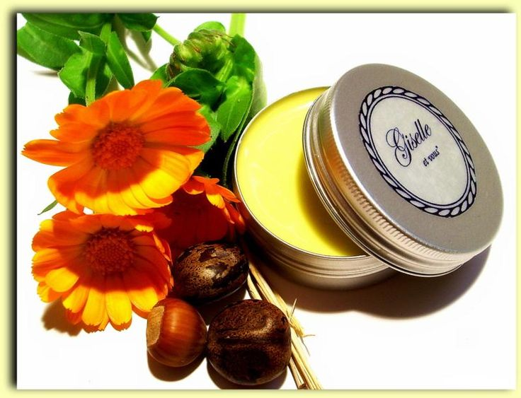 Marigold Body Balm / Ingredients: calendula, walnut leaves, shea butter, cocoa butter, jojoba oil, almond oil, vitamin e, sunflower oil, beeswax, boiling water / 100% natural organic product / Giselle et Vous.