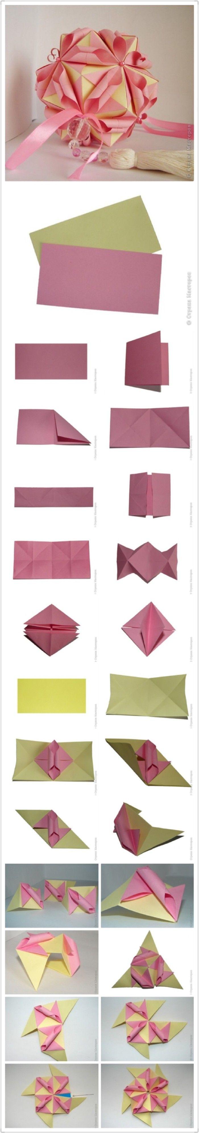 Flamenko Star Folding Directions Craft Ideas T Origami Kusudama Diagrams