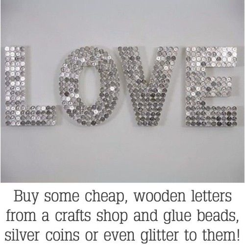 buy some cheap wooden letters from a craft store and glue beads glitter or