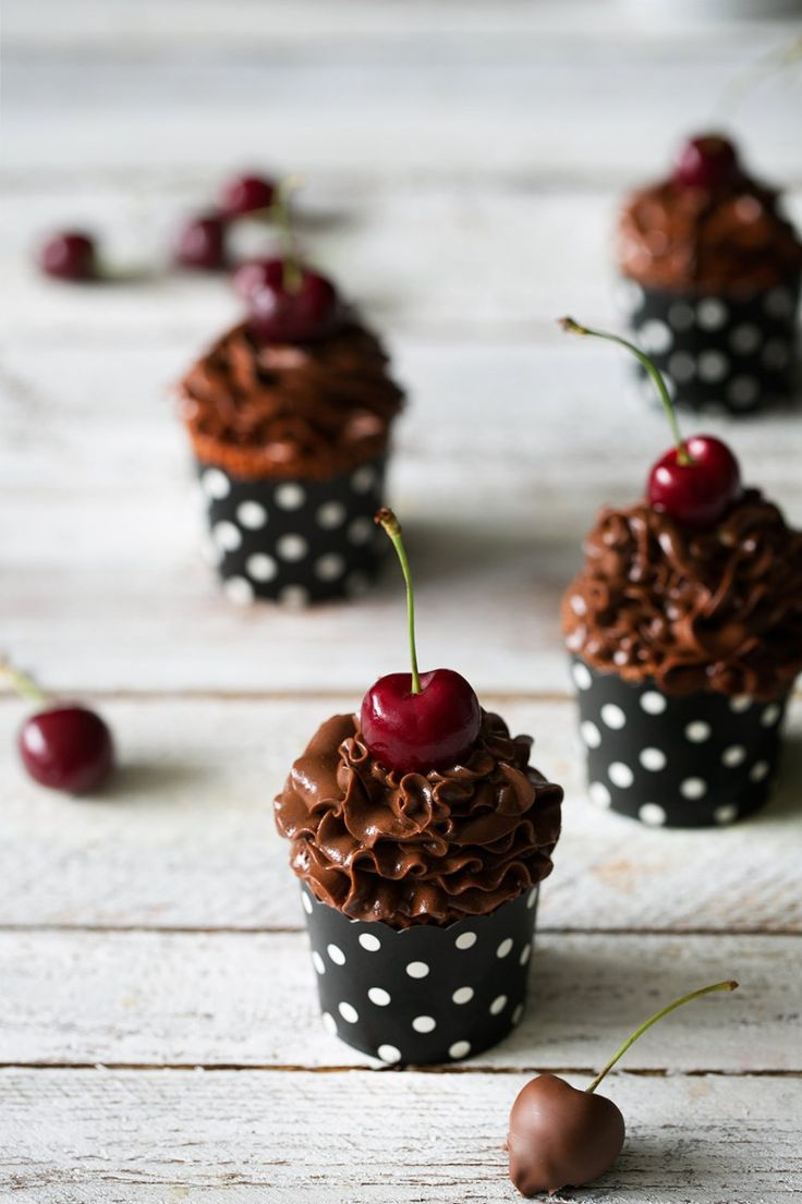 Brownie Cherry Cupcakes Brownie Kirsch-Cupcakes