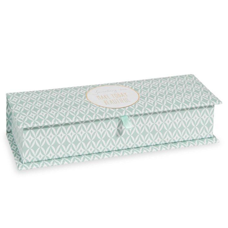 Boîte à bijoux à motifs verts PAPER TODAY