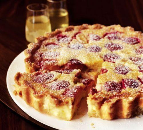 Limoncello plum tart