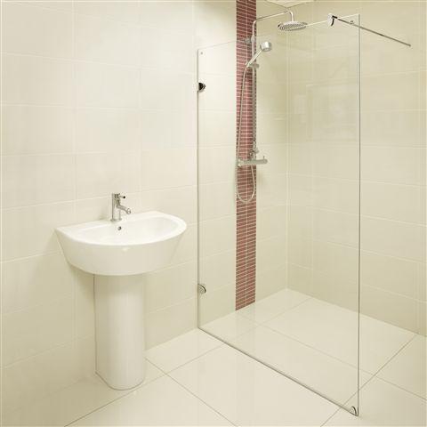 Mirabelle Frameless Wet Room Screen - From £249 - http://www.bathroomheaven.com/walk-in-shower-screens/mirabella-wet-room-screen-700mm-easy-clean-11038.aspx