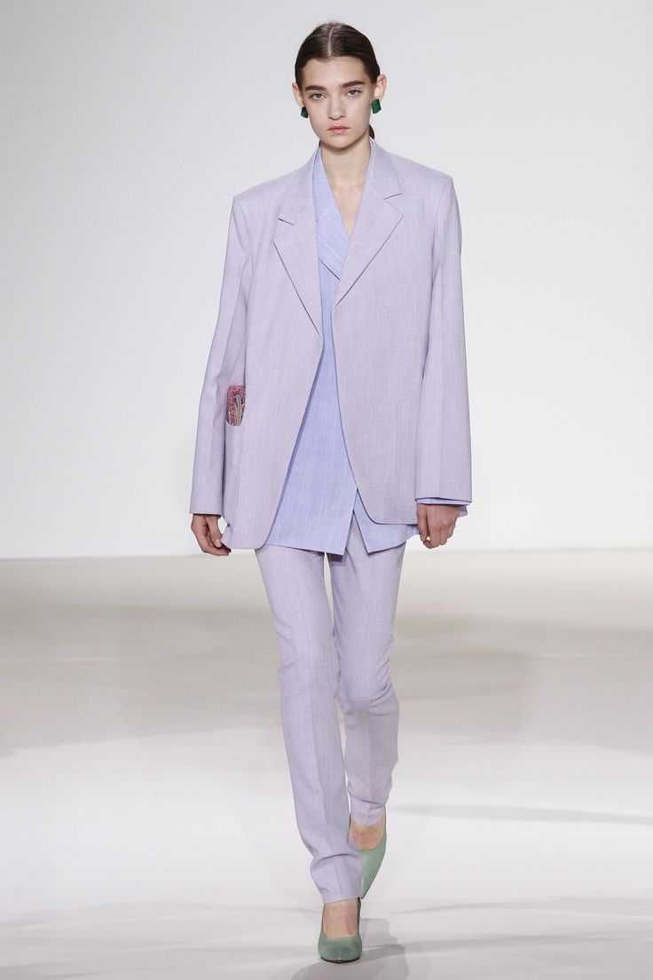 Vivacious Violet Suiting at Victoria Beckham | Spring 2018 Ready-to-Wear Fashion Show #nyfw