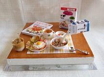 1/12 フルーツグラノーラの朝食セット ハムエッグ