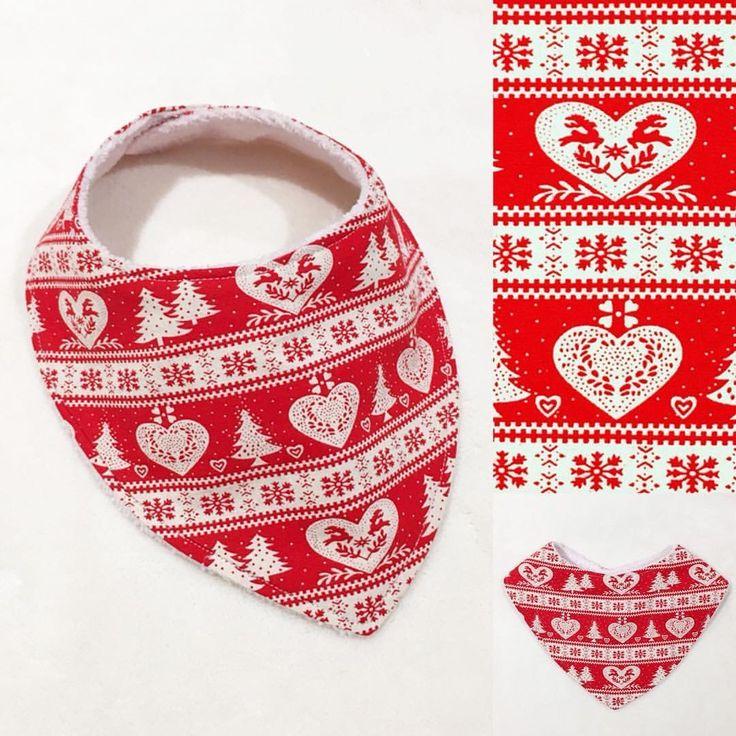 Christmas snow flakes print Bandana Bib www.etsy.com/au/shop/MummyGDub