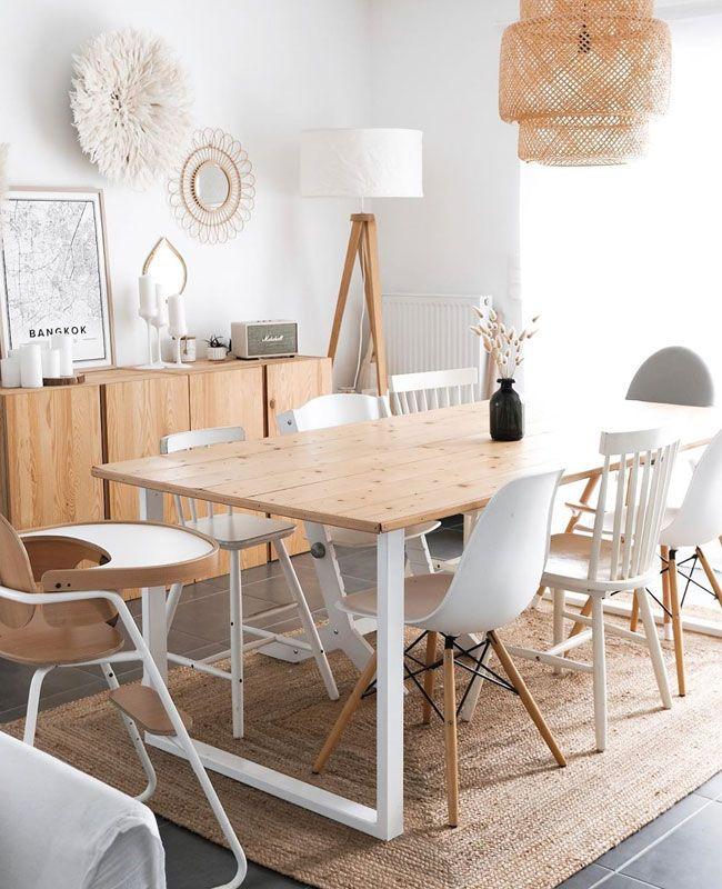 salle a manger blanc et bois