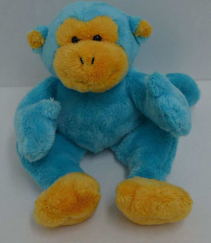 "Gund Dandy Monkey Plush Blue Yellow Bean Bag 10"" #31023 #GUND http://stores.ebay.com/Lost-Loves-Toy-Chest/_i.html?image2.x=0&image2.y=0&_nkw=gund"