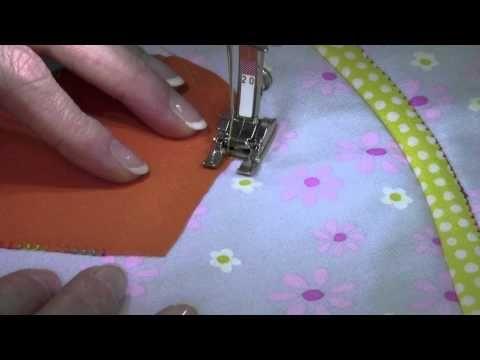 ▶ Bernina 380 34 Sara's Favorite Machine Applique Stitch - YouTube