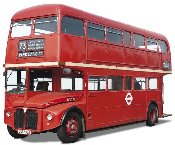 A bright red double decker London bus RML Leyland Routemaster which was in its hay days way back in the 1960s when it ply on Route 73 at Oxford Street through to Kensington High Street and Park Lane Hilton. Now 50 years hence and still in its prime, the bus in question went under the auctioneers hammer at Christies where it sold for £67,250 ($106,591).