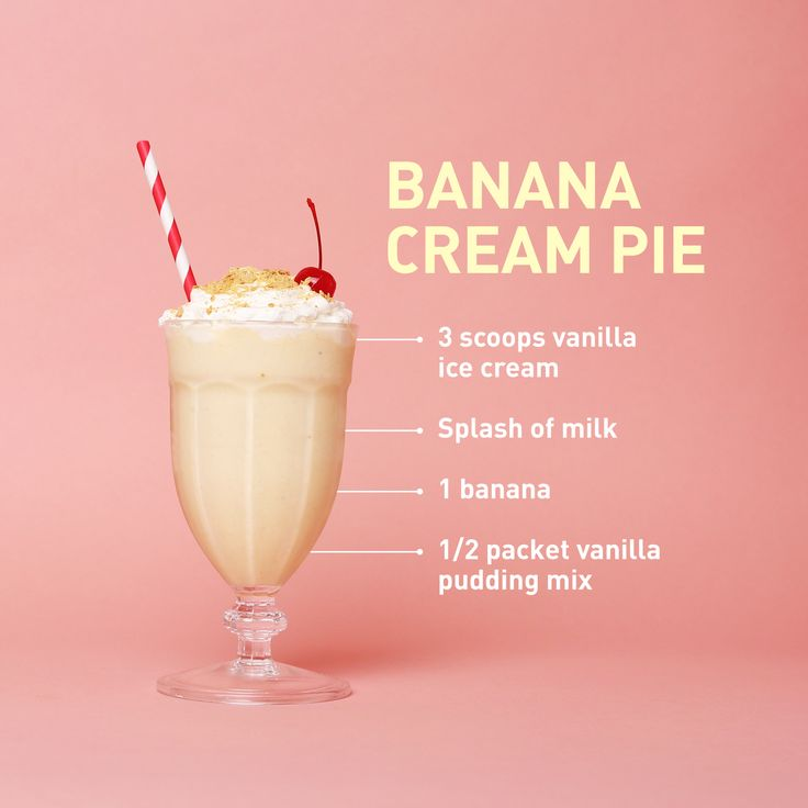 The classic custard pie enters milkshake territory with this deliciously rich, spoonable dessert. Don't forget the crushed graham crackers and Maraschino.   - Delish.com