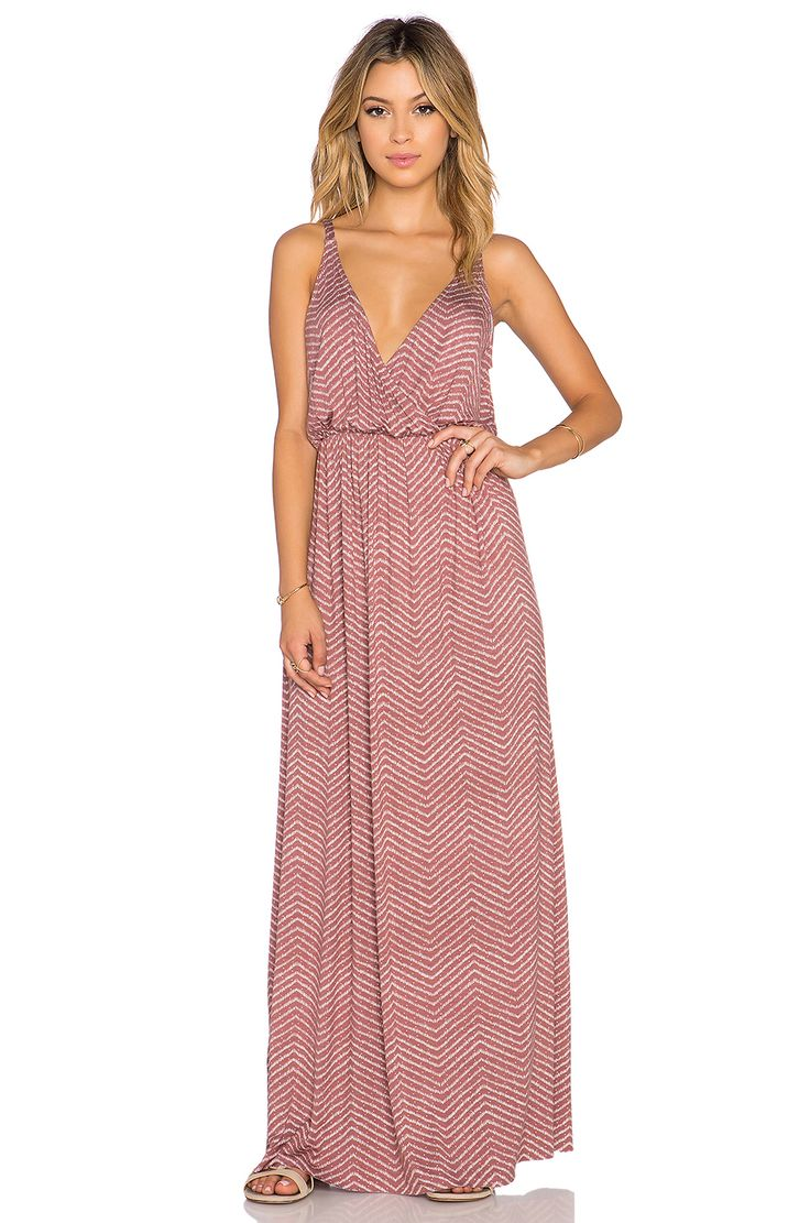 Clayton Andrea Maxi Dress in Rust Rain