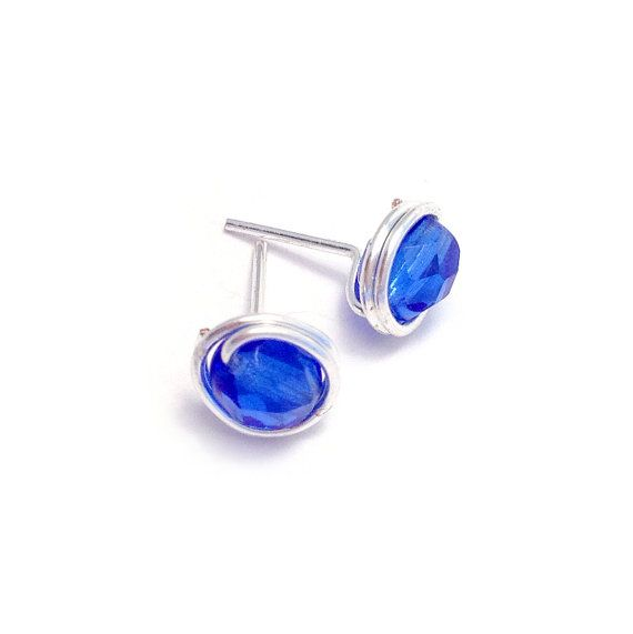 Cobalt blue jewellery by Diane McLeod on Etsy